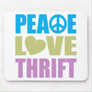 Peace Love Thrift Mouse Pad
