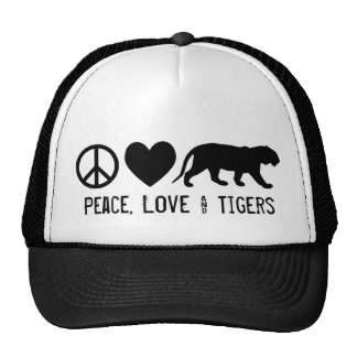Peace, Love & Tigers Cap