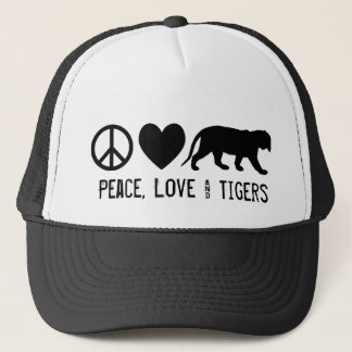 Peace, Love & Tigers Trucker Hat