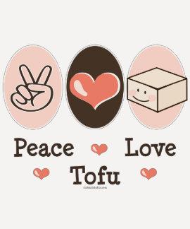Peace Love Tofu Raglan Tee