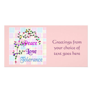 Peace Love Tolerance Photo Greeting Card