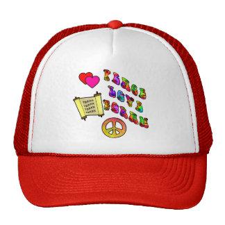Peace Love Torah Hats