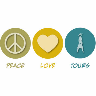 Peace Love Tours Acrylic Cut Out