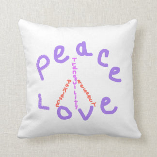 Peace love tranquility patience respect Pillow