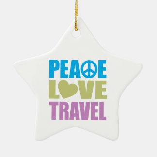 Peace Love Travel Christmas Ornament