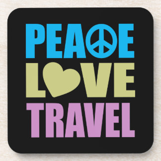 Peace Love Travel Drink Coaster