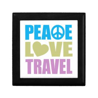 Peace Love Travel Small Square Gift Box