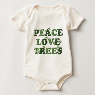 Peace Love Trees Baby Organic Bodysuit