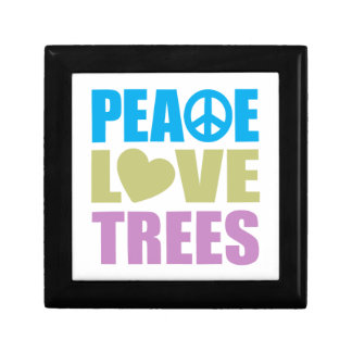 Peace Love Trees Small Square Gift Box