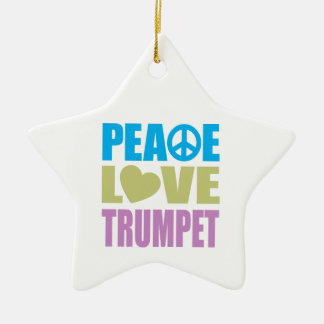 Peace Love Trumpet Ceramic Star Decoration
