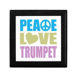 Peace Love Trumpet Small Square Gift Box