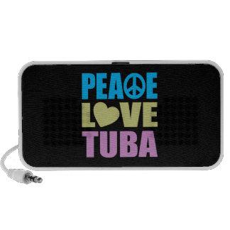 Peace Love Tuba Laptop Speakers