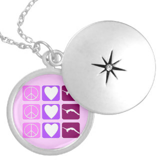 Peace Love Tumble locket