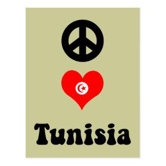 Peace love Tunisia Postcard