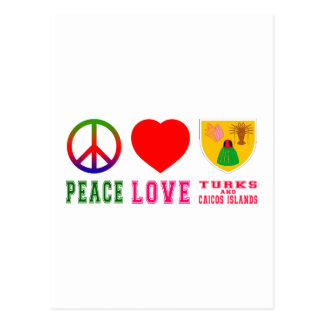 Peace Love Turks and Caicos Islands Postcard