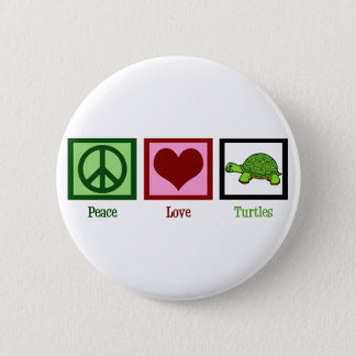 Peace Love Turtles 6 Cm Round Badge