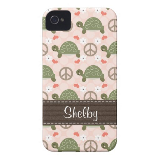 Peace Love Turtles Blackberry Bold Case Case-Mate iPhone 4 Case
