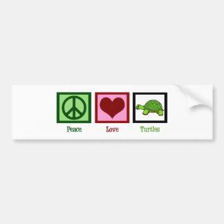 Peace Love Turtles Bumper Sticker