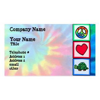 Peace, Love, Turtles Double-Sided Standard Business Cards (Pack Of 100)