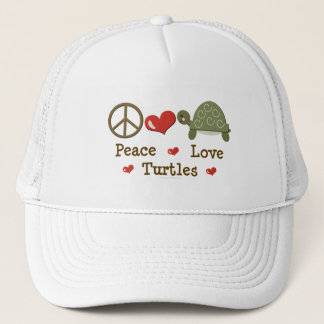 Peace Love Turtles Cap