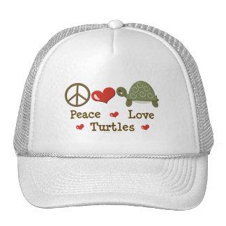 Peace Love Turtles Cap Mesh Hats