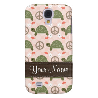 Peace Love Turtles  Galaxy S4 Case