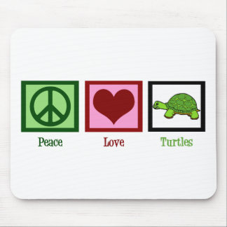 Peace Love Turtles Mouse Mat