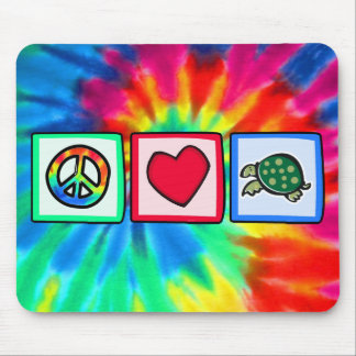 Peace, Love, Turtles Mouse Pad