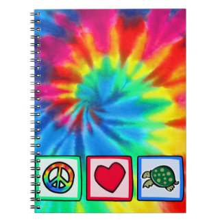 Peace, Love, Turtles Spiral Notebook