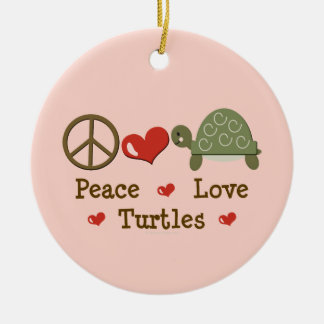 Peace Love Turtles Ornament
