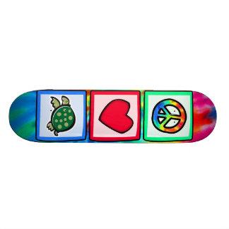Peace Love Turtles Skate Board