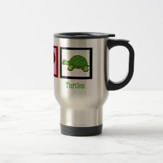 Peace Love Turtles Travel Mug