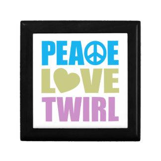 Peace Love Twirl Small Square Gift Box