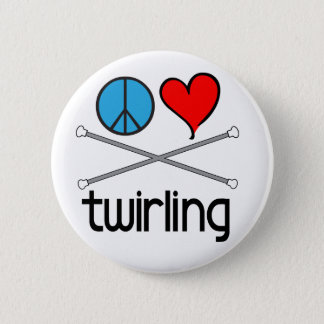 Peace Love Twirling 6 Cm Round Badge