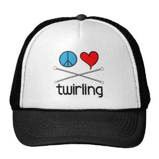 Peace Love Twirling Mesh Hat
