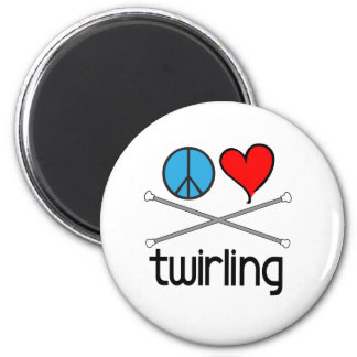 Peace Love Twirling Refrigerator Magnets