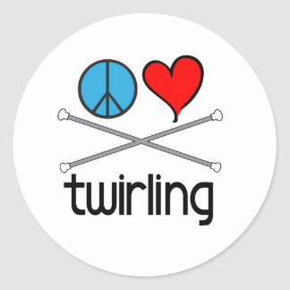 Peace Love Twirling Sticker