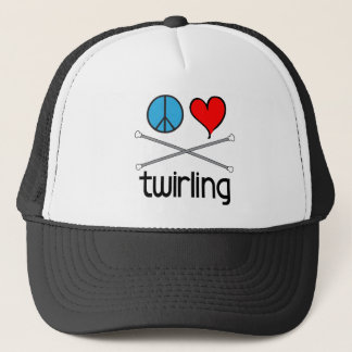 Peace Love Twirling Trucker Hat