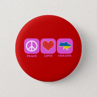 Peace Love Ukraine 6 Cm Round Badge