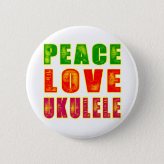 Peace Love Ukulele 6 Cm Round Badge