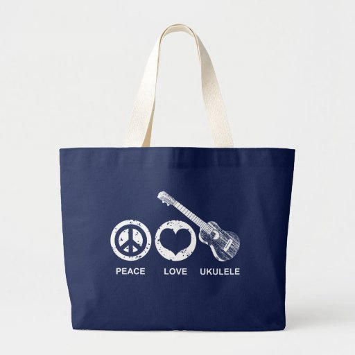 Peace Love Ukulele Canvas Bags