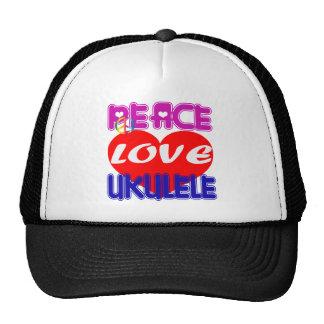 Peace Love Ukulele Trucker Hat