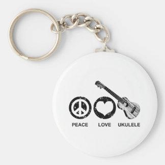 Peace Love Ukulele Key Ring