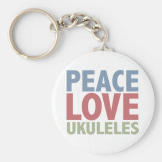 Peace Love Ukuleles Key Ring