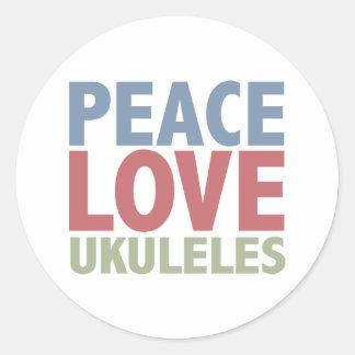 Peace Love Ukuleles Stickers