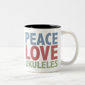 Peace Love Ukuleles Two-Tone Coffee Mug