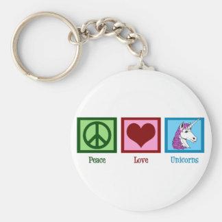 Peace Love Unicorns Key Ring