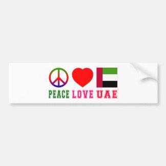 Peace Love United Arab Emirates Bumper Sticker
