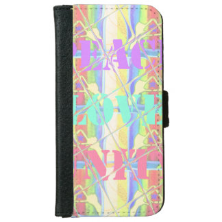 Peace Love Unity Hakuna Matata Colors Wallet cases iPhone 6 Wallet Case