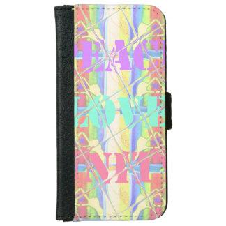 Peace Love Unity Hakuna Matata Colors Wallet cases iPhone 6 Wallet Case
